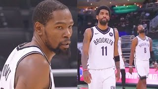 Kevin Durant PROVES Kyrie Irving Wrong With Missed Game Winner vs Giannis! Nets vs Bucks