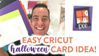 EASY CRICUT HALLOWEEN CARD IDEA!