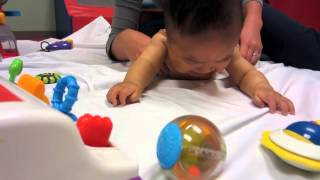 Nine month old Baby Boy 1st time Physical Therapy evaluation consultation