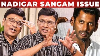 Vishal uh எதிர்க்கிறேனா? - K Bhagyaraj Opens up   Nadigar Sangam Election   RS 200