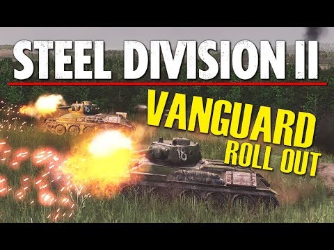 VANGUARD ROLL OUT! Steel Division 2 BETA Conquest Gameplay (Lyakhavichy, 3v3)