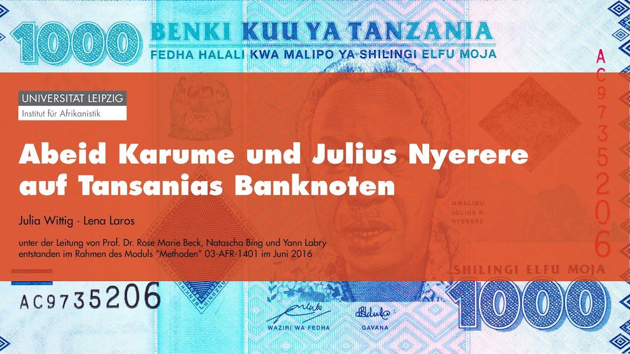 Money Talks - Abeid Karume und Julius Nyerere auf Tansanias Banknoten
