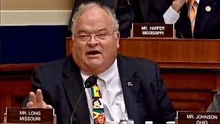 Hilarious - Rep. Billy Long Drowns Out Protester With Auctioneer Call