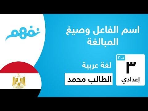 اسم الفاعل وصيغ المبالغة - لغة عربية - للصف الثالث الإعدادي - الترم الثاني - المنهج المصري - نفهم