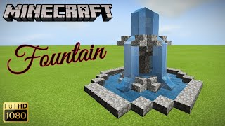 Minecraft tutorial: how to build a fountain in MCPE