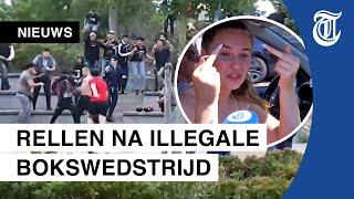 150 jongeren gooien stenen en vuurwerk naar politie