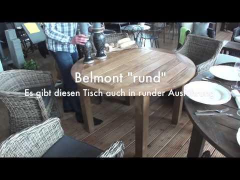 Holz-Haus - Diamond Garden Teakholz-Gartentisch Belmont (rund)