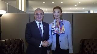ԱԳ նախարարի հանդիպումը Եվրոպայի խորհրդի գլխավոր քարտուղար Մարիա Պեյչինովիչ Բուրիչի հետ