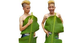 PHD | Chế Tạo Quần Áo Bằng Lá Cây | Clothes Made From Foliage