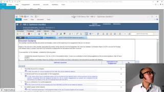 Audit 17 00 Videos 02   A B C   Create new file, Profiles, Optimizer Cheklist