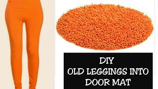 Gambar cover DIY OLD LEGGING INTO DOORMAT/ REUSE OF OLD CLOTHES(Hindi)