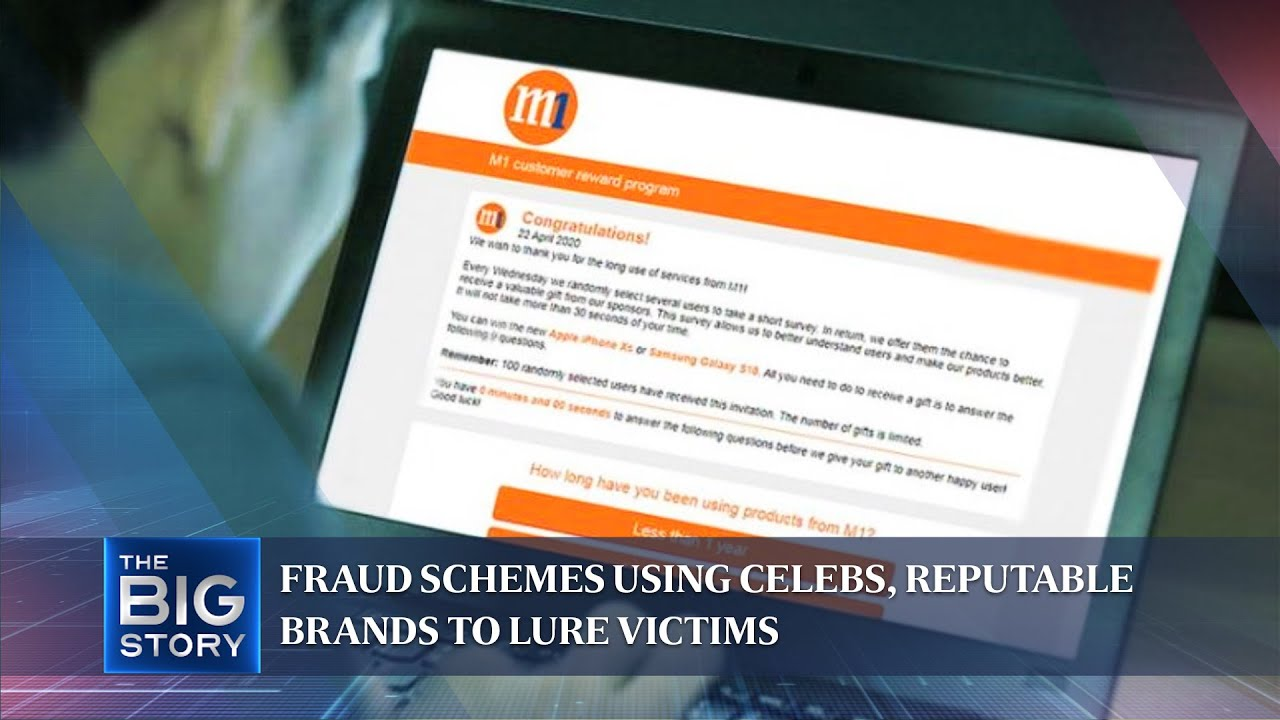 The Straits Times | The Big Story: Fraud schemes using celebs, reputable brands to lure victims