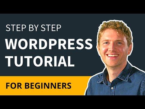WordPress Tutorial For Beginners - Step by Step