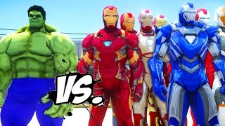 Video THE HULK VS IRON MAN ARMY - EPIC SUPERHEROES BATTLE