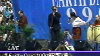 Natalie Merchant Michael Stipe EARTH DAY RALLY 1990