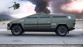 Military Tesla Cybertruck: Combat Vehicle