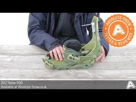 2016 / 2017 | Rome DOD Snowboard Bindings | Video Review