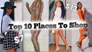 Top 10 Places To Shop Online 2020 | Affordable Trendy Clothes