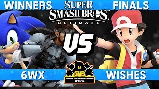 Smash Ultimate Tournament Winners Finals - 6WX (Snake / Sonic) vs Wishes (Pokemon Trainer)  CNB 170