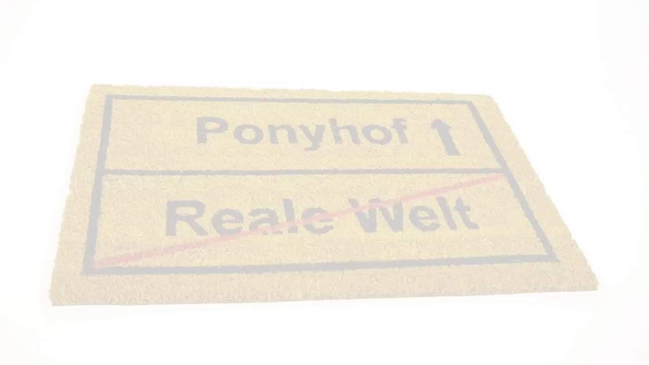Video von: Fußmatte 'Ponyhof' Kokos 40x60 cm
