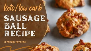 Keto Sausage Ball Recipe🧡PERFECT for busy mornings!