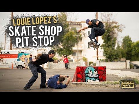 Louie Lopez's Skate Shop Pit Stop | CONS X Berrics