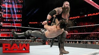 Seth Rollins Vs. Braun Strowman: Raw, Oct. 2, 2017