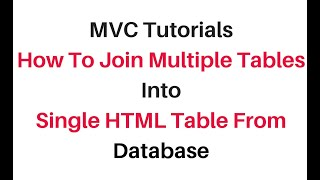mvc join multiple tables models into one view html table c#4.6