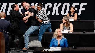 Michael Chiesa, Kevin Lee Brawl at UFC Summer Kickoff Press Conference - MMA Fighting