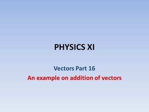 An example for addition of vectors