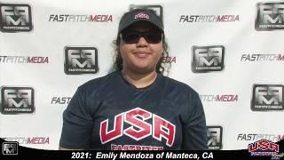 2021 Emily Mendoza Pitcher Softball Skills Video - USA Fastpitch 18 Gold