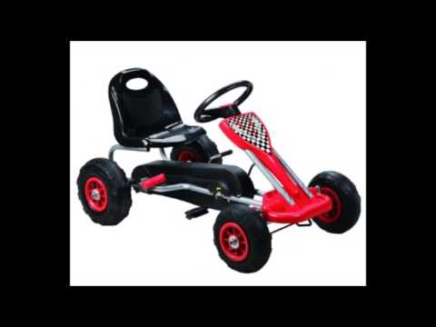 Vroom Rider Zoom Pedal Go Kart Ride Ons with Pneumatic Tire, Red