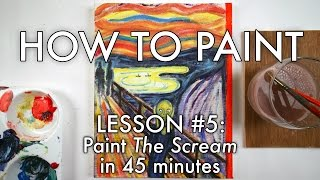 """Paint Edvard Munch's """"The Scream"""" (for beginners) - How to Paint #6 - MV53"""