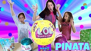REAL LIFE LOL PINATA POP CONFETTI! GIANT LIFE SIZE LOL SURPRISE DOLL BALL! 15 POUNDS! PEARL SURPRISE