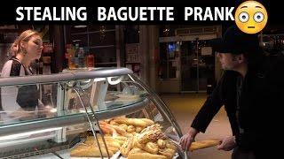 Stealing Baguette in Paris Prank🥖 -Julien Magic
