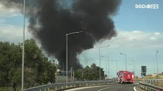 Incendio impianti rifiuti. Paura per i possibili danni sull'ambiente
