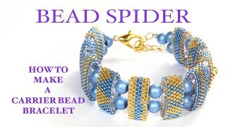 Beaded butterfly diy part 2 of 3 beading and miroslava tv most how to make a carrier bead bracelet and how to read a peyote pattern fandeluxe Choice Image