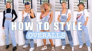 MY FAVORITE WAYS TO STYLE OVERALLS   GIRLY, COMFY, BASICS