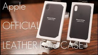 Apple's  OFFICIAL Leather / Folio overpriced..Case - iPhone XS / MAX - In-depth Review / Comparison