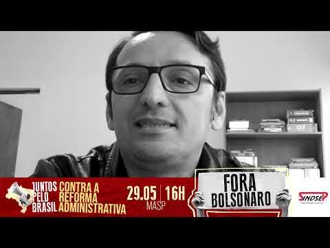 Ejivaldo do Espírito Santo, dirigente do Sindsep, lembra que ato Fora Bolsonaro é em defesa da vida