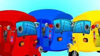 Learn Colors with Mega Auto Family | Rickshaws Finger Family Songs and More