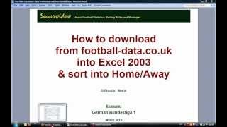 How To Prepare Historical Football Data In Excel For Further Analysis