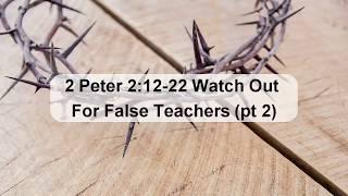 Watch Out for False Teachers 2
