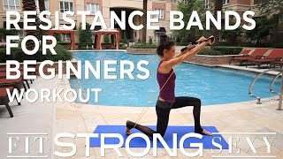 Total Body Resistance Band Workout for Beginners by amanda russell