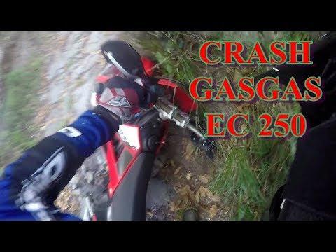 GASGAS EC 250 2007 CRASH - STONE WAY - GOPRO VIEW - FIRST CRASH