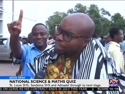 National Science And Maths Quiz - News Desk on Joy News (21-6-18)