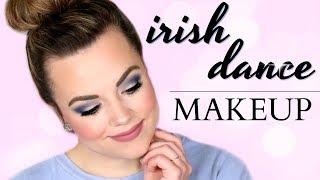 IRISH DANCE MAKEUP - Blue/Silver Dress!  |  Cait B