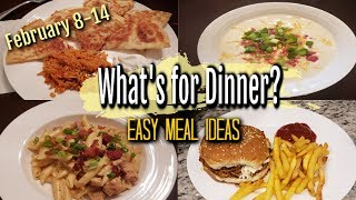 WHAT'S FOR DINNER? | FEBRUARY 8-14 | EASY MEAL IDEAS | MANDY IN THE MAKING
