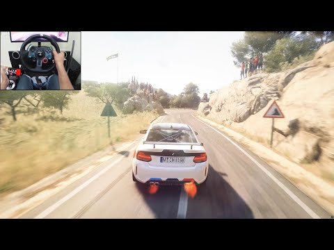 BMW M2 Competition - Dirt Rally 2.0 | Logitech g29 gameplay