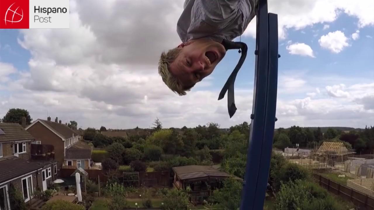 Joven británico construye columpio extremo que permite giros de 360 grados